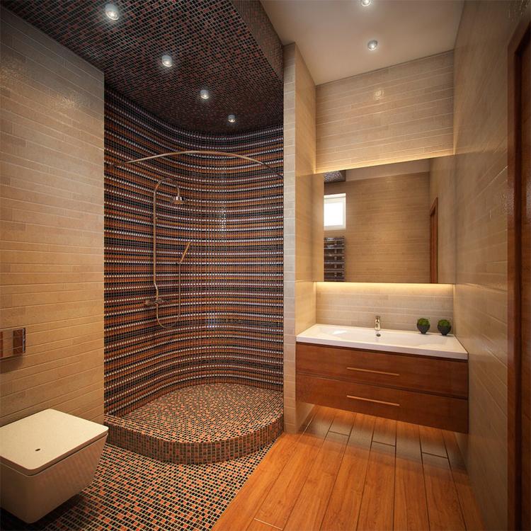 Дизайн ванной комнаты с поддоном для душа
